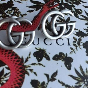 Gucci Vintage Signature GG Earrings